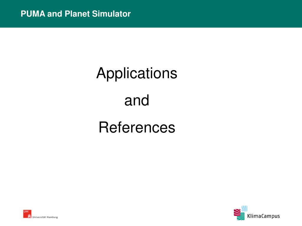 PUMA and Planet Simulator