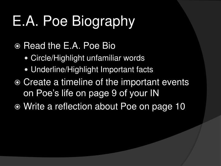 E.A. Poe Biography