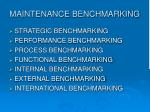 maintenance benchmarking