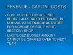 revenue capital costs