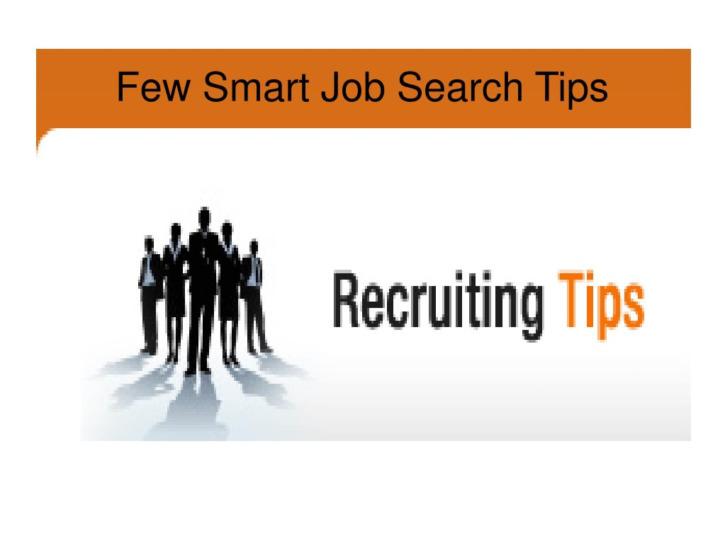 few smart job search tips