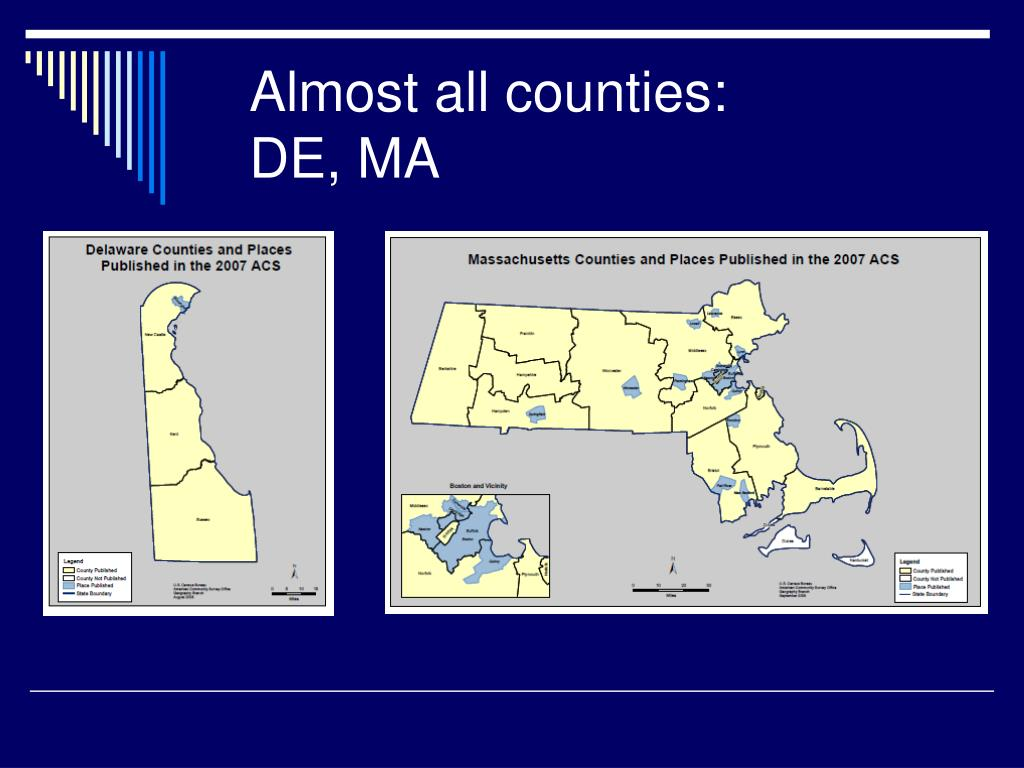 Almost all counties: