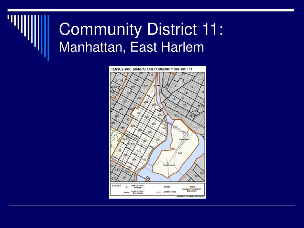 Community District 11: