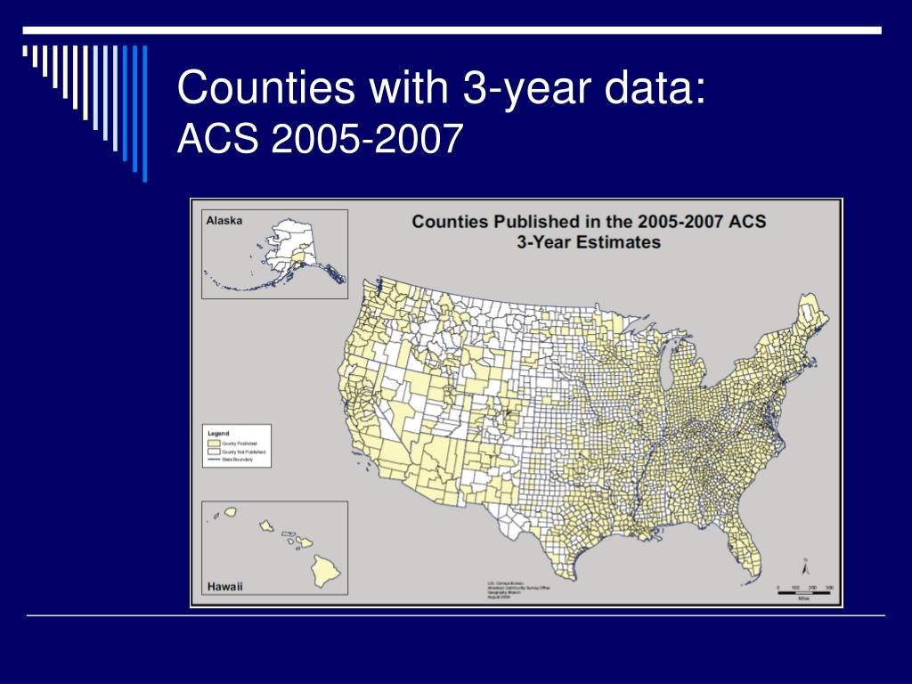 Counties with 3-year data: