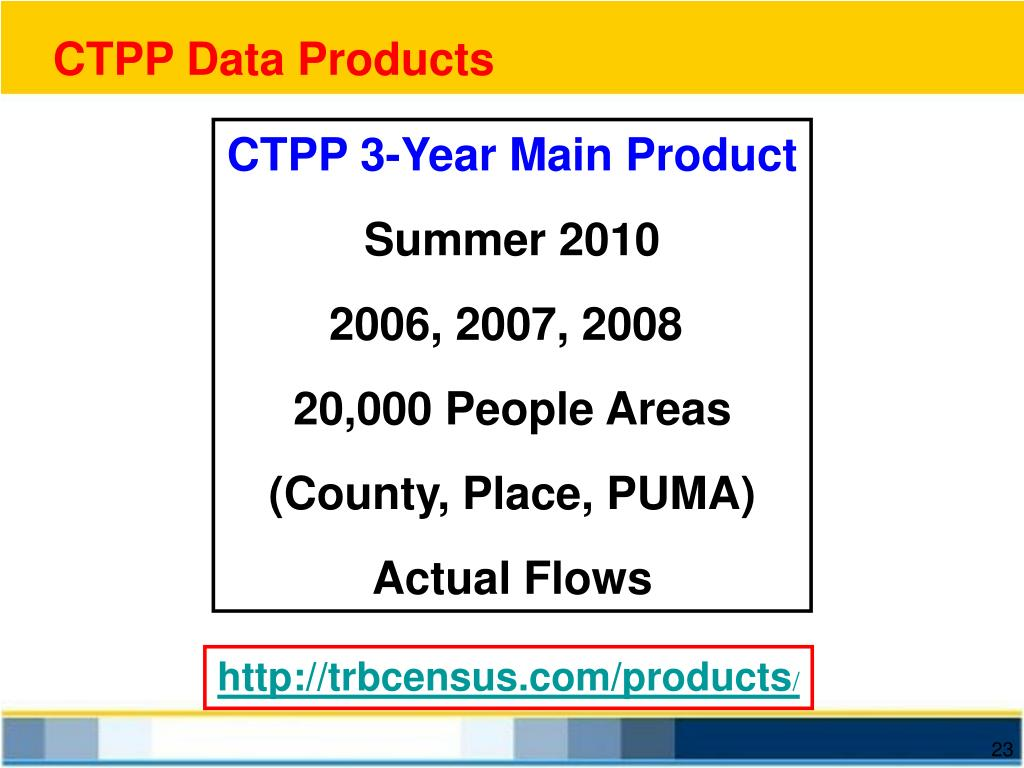 CTPP Data Products