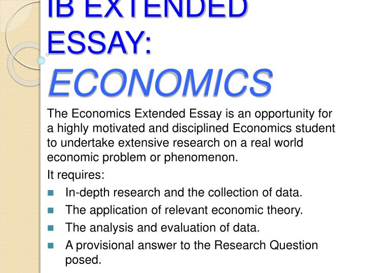 econ business essay