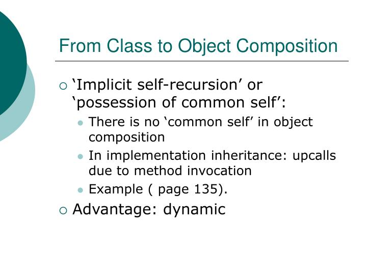 From Class to Object Composition