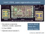 1mm 3 2ghz super regenerative transceiver