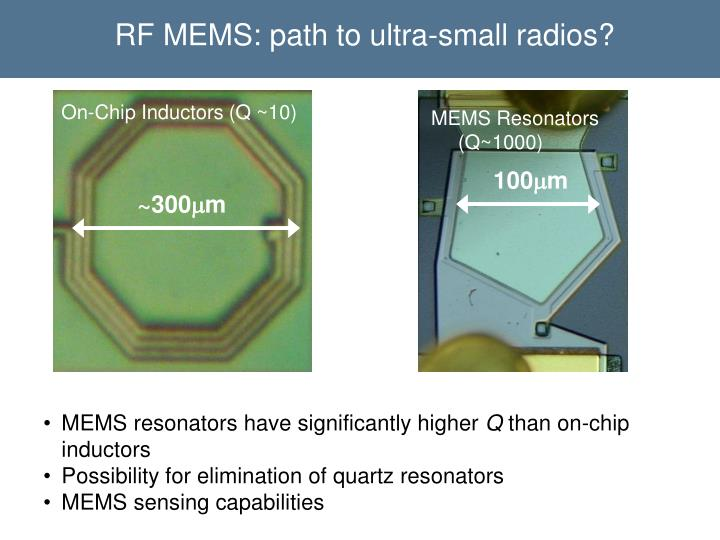 RF MEMS: path to ultra-small radios?