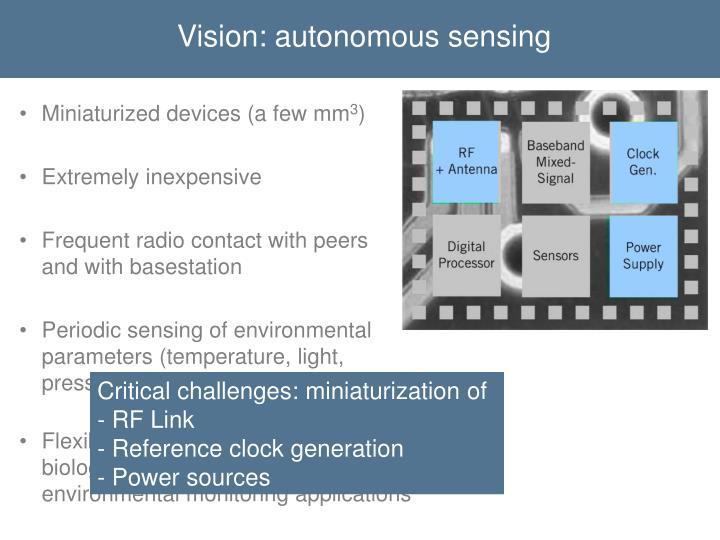 Vision: autonomous sensing