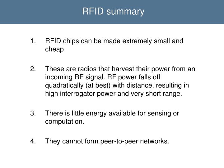 RFID summary