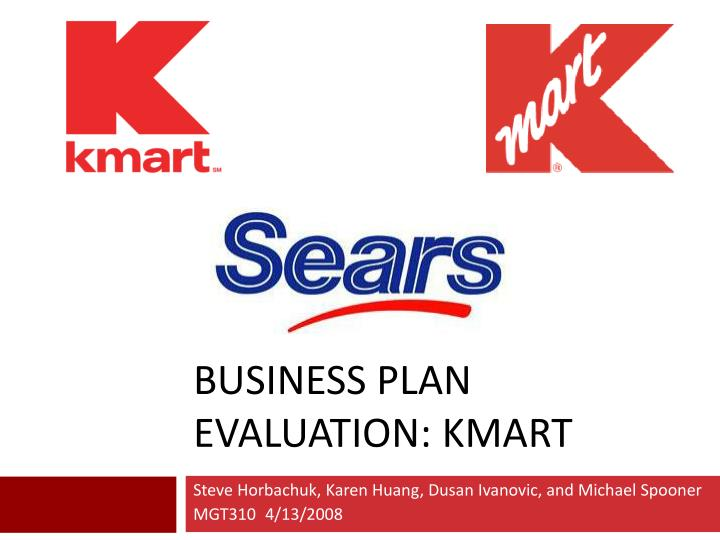Business plan evaluation kmart