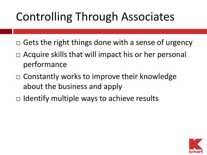 Controlling Through Associates