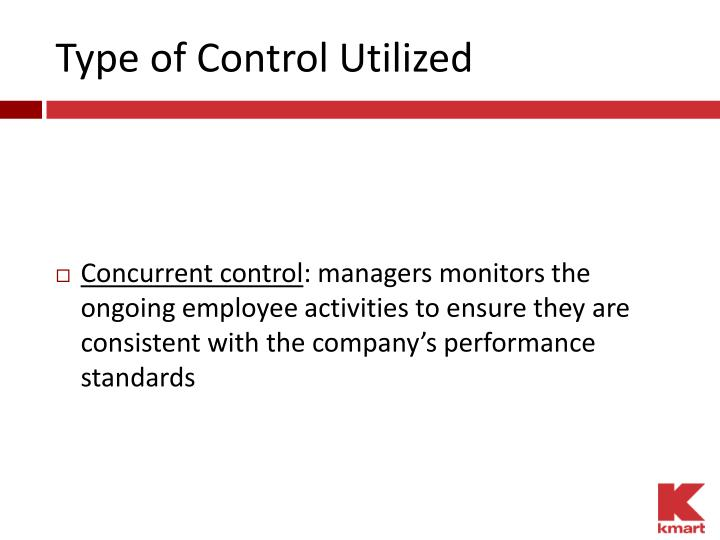 Type of Control Utilized