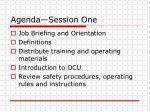 agenda session one