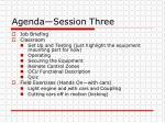 agenda session three