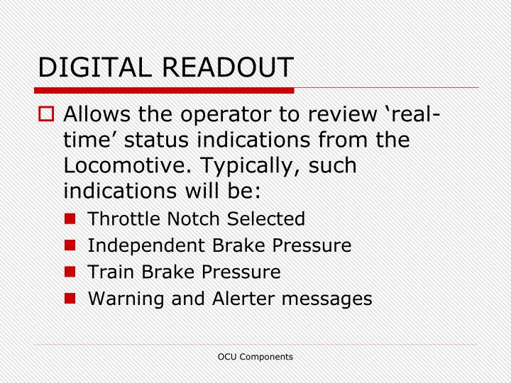 DIGITAL READOUT