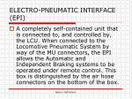 electro pneumatic interface epi