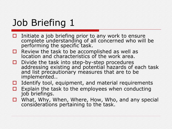 Job Briefing 1