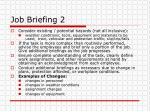 job briefing 2
