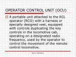 operator control unit ocu