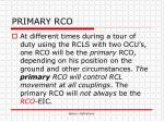 primary rco