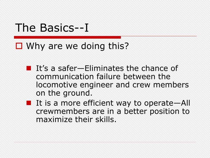 The Basics--I