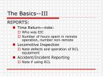 the basics iii