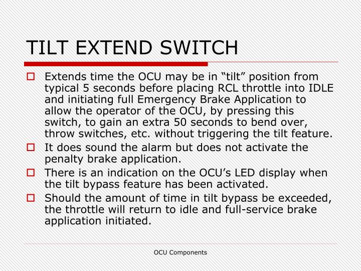 TILT EXTEND SWITCH