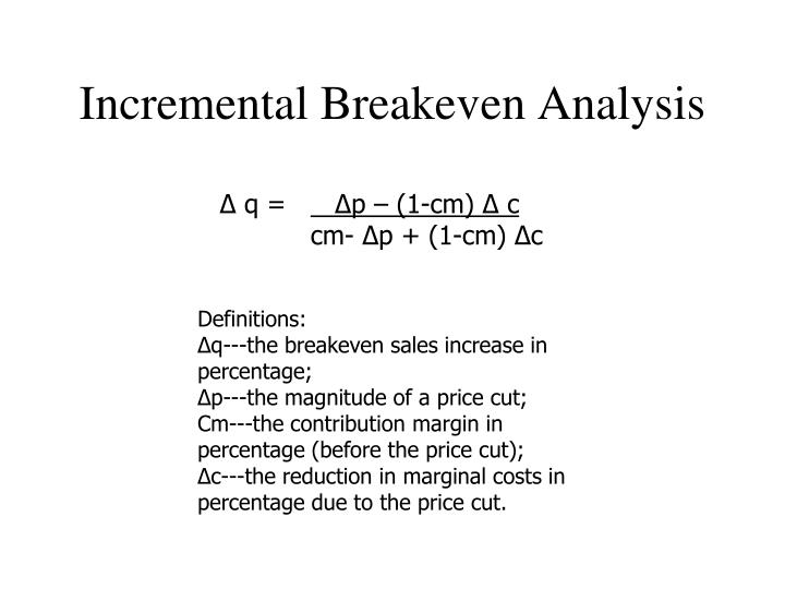 Incremental Breakeven Analysis