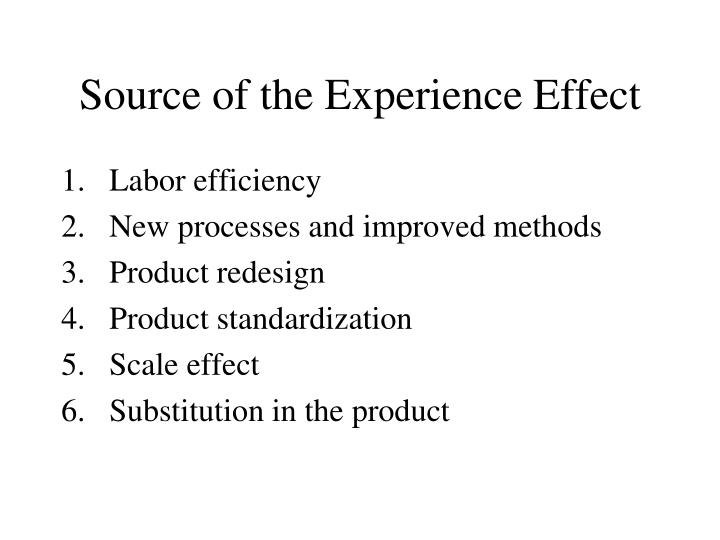 Source of the Experience Effect