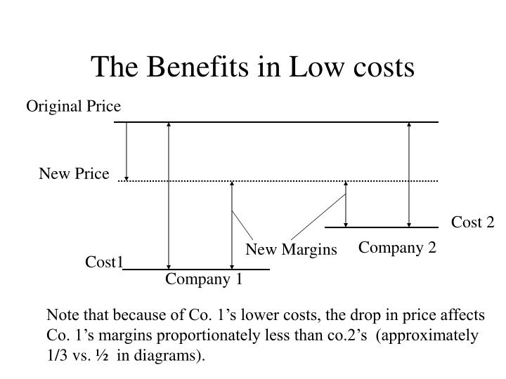 The Benefits in Low costs