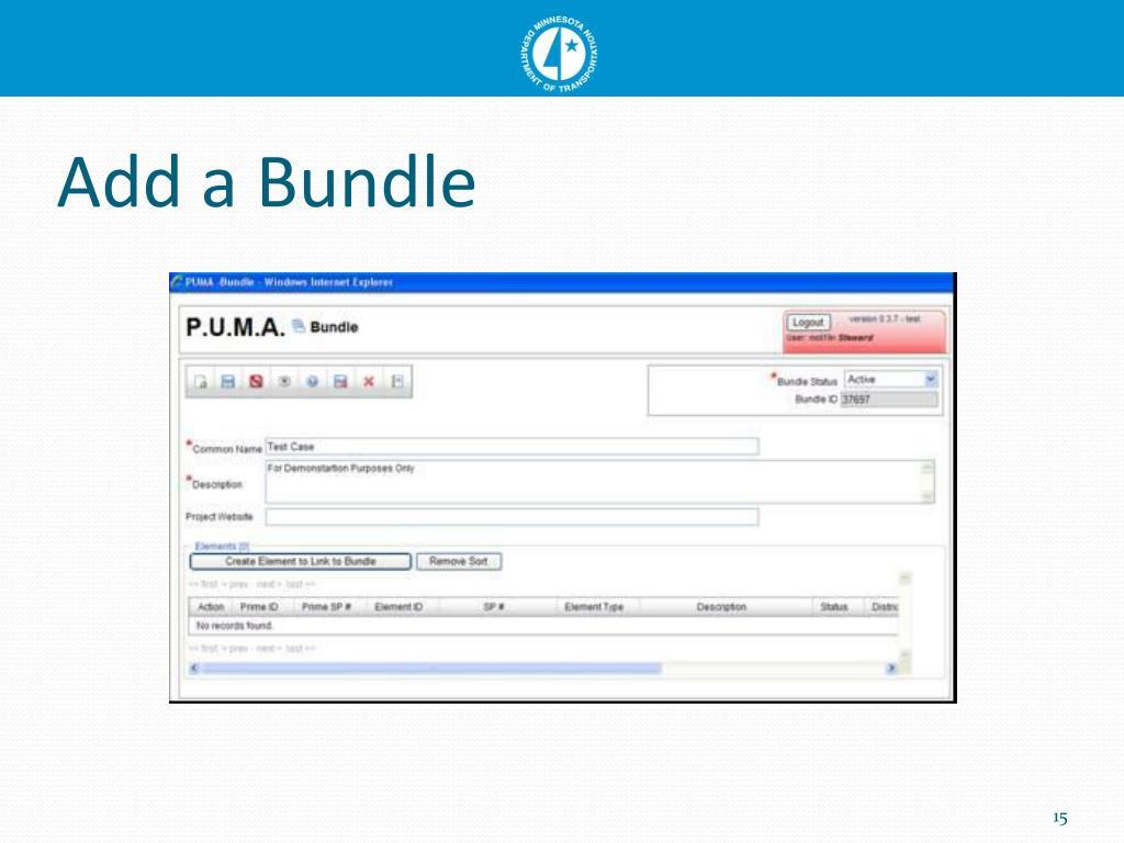 Add a Bundle