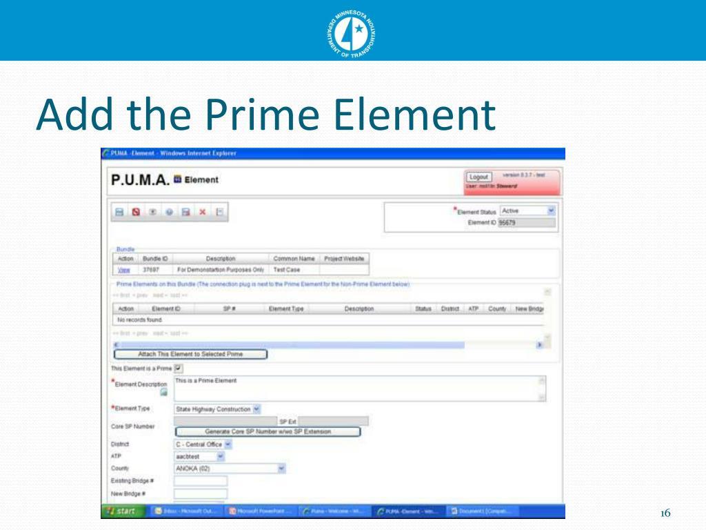 Add the Prime Element