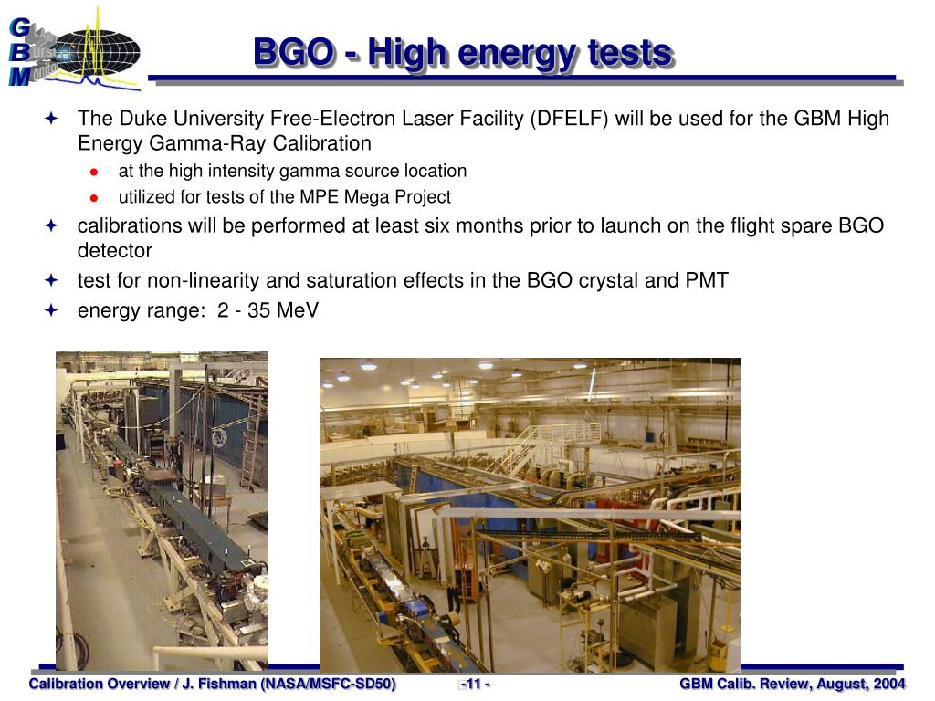BGO - High energy tests