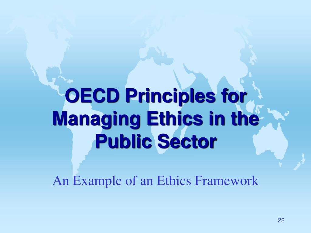 OECD Principles for Managing Ethics in the Public Sector