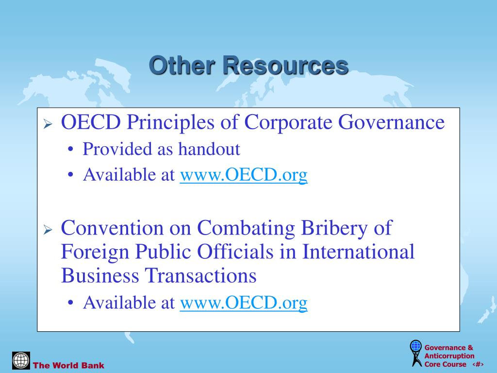 OECD Principles of Corporate Governance