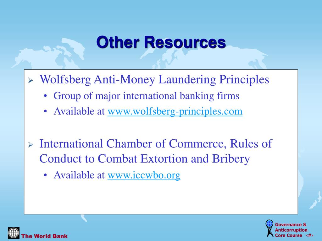 Wolfsberg Anti-Money Laundering Principles