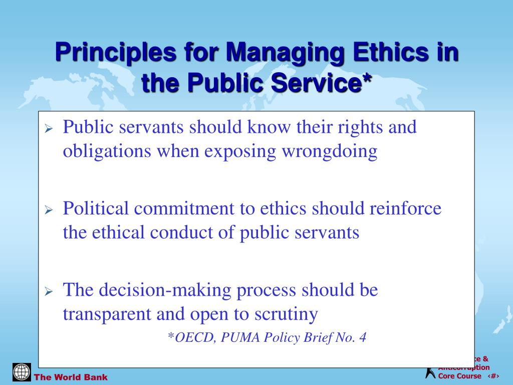 Public servants should know their rights and obligations when exposing wrongdoing