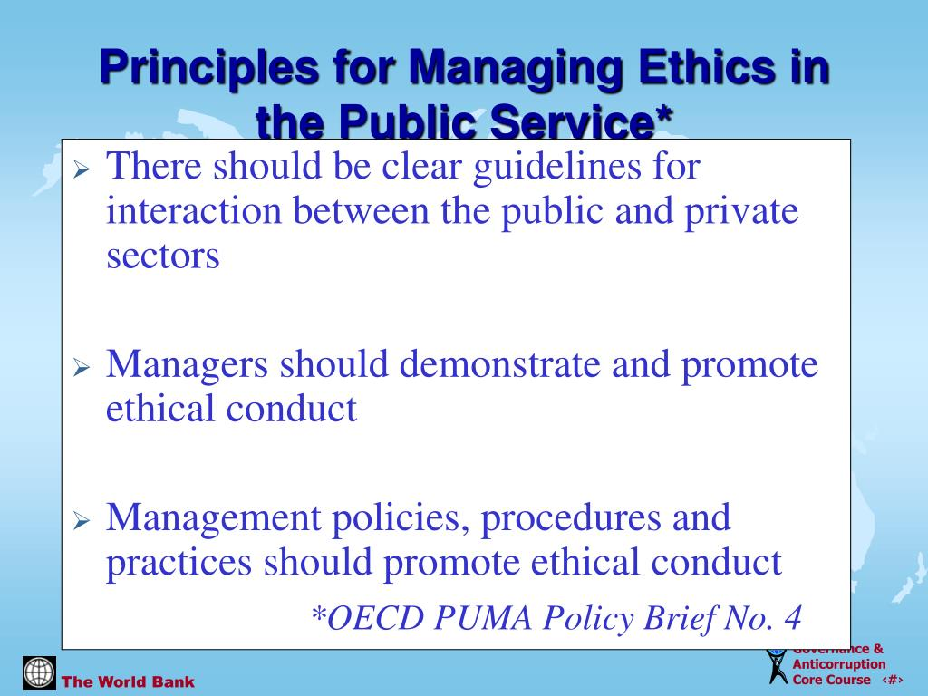 There should be clear guidelines for interaction between the public and private sectors