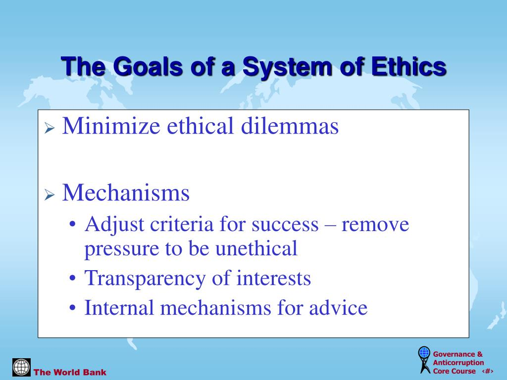 Minimize ethical dilemmas