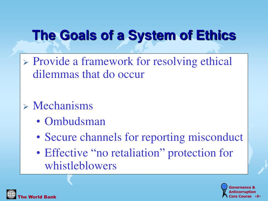 Provide a framework for resolving ethical dilemmas that do occur