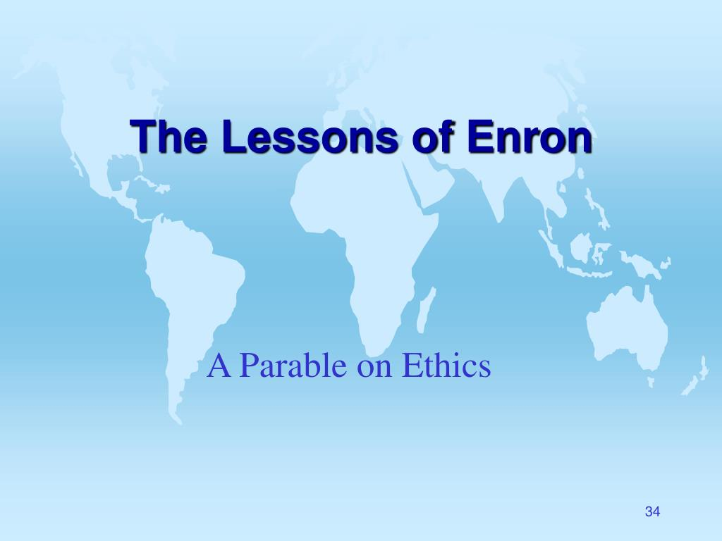 The Lessons of Enron