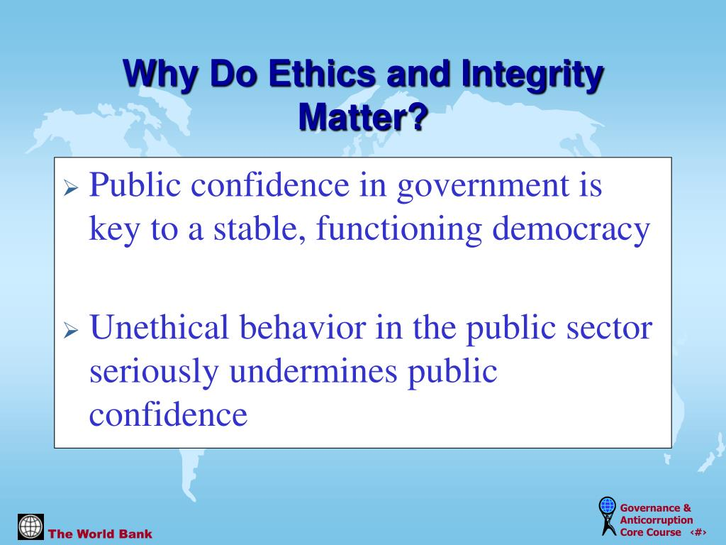 Public confidence in government is key to a stable, functioning democracy