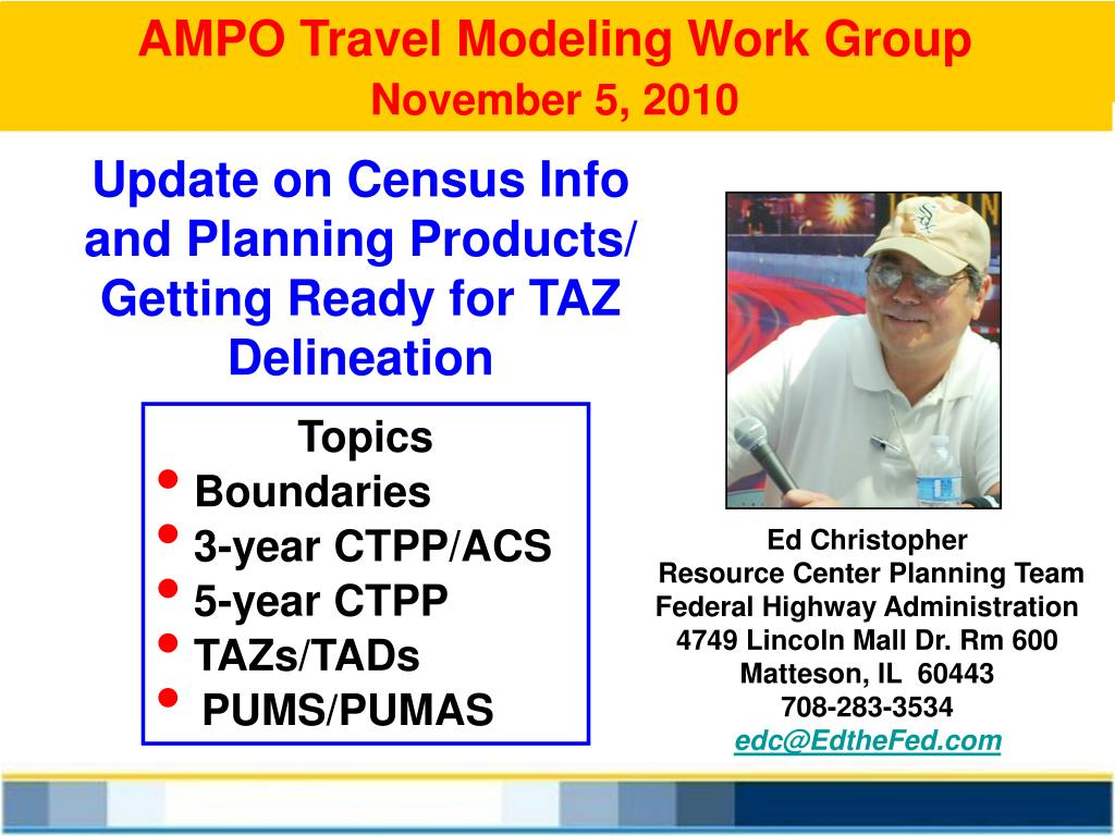 AMPO Travel Modeling Work Group