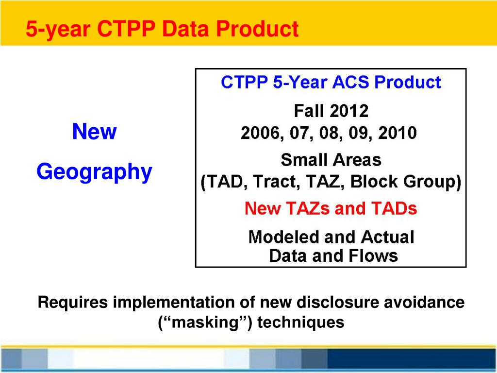 5-year CTPP Data Product
