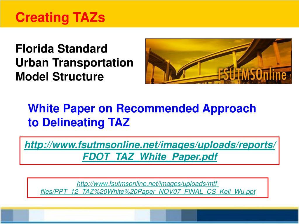 Creating TAZs