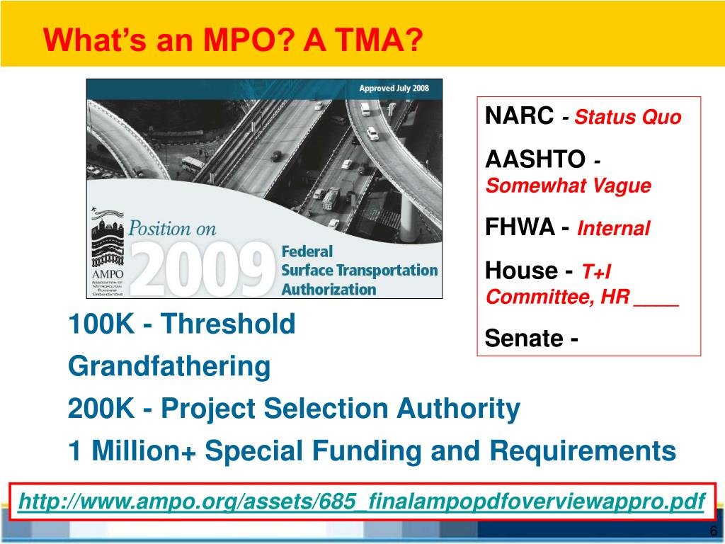 What's an MPO? A TMA?