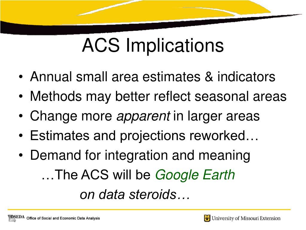 Annual small area estimates & indicators