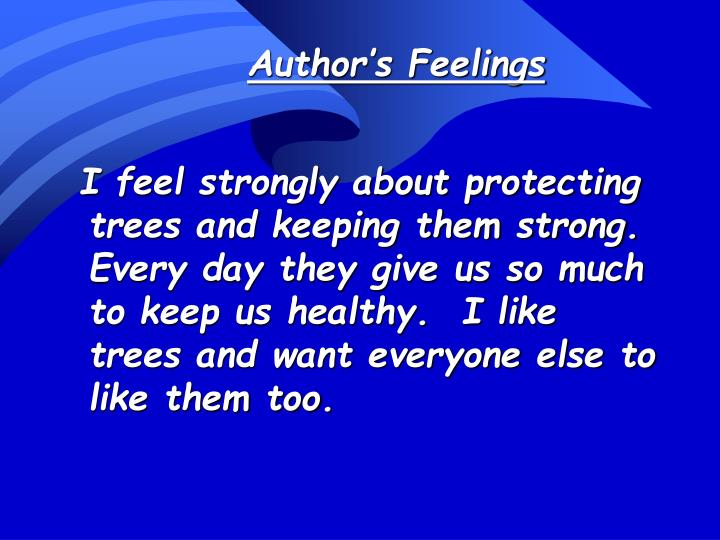 Author's Feelings